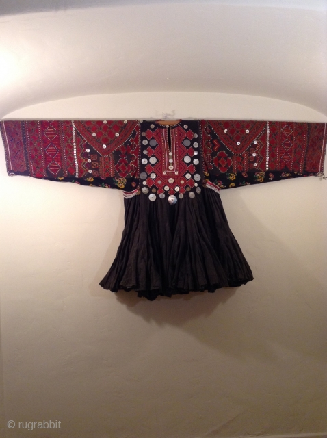 Nuristan wedding dress. Perfect condition.  Beautiful embroidery on front and back.  Possibly mid 20th century.