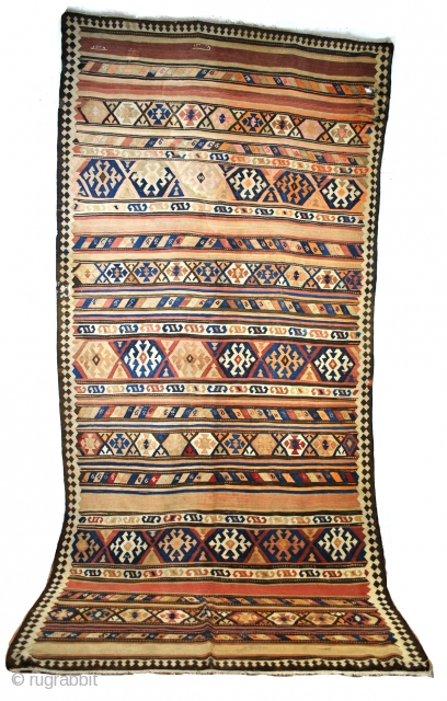 double dated  antique kilim, 1228=1813 - 1328=1910. 