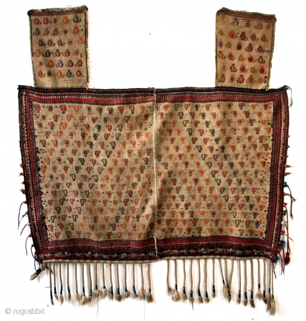Large Saddle blanket, for a camel, Shahsavan early 20th century.  wide 155 Cm's 5 ft 2 inch.  high 170 cm   5 ft 8 inch