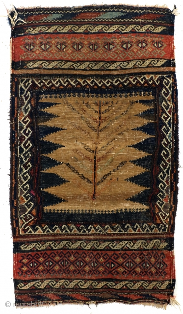 Baluch Sofreh, kilim with embroidery, 1950- 1960, 70 x 118 Cm.