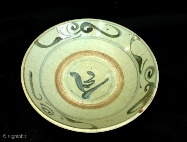 Ming plate, 16th-17th century. 1 footh wide.  I recommend to use it to serve rice or vegetables on your table.