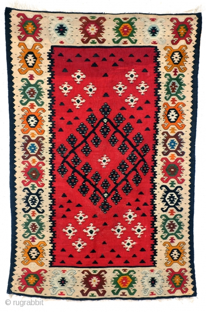 Very fine woven kilim, around 1930.  