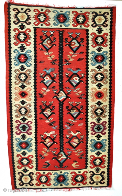 Bulgarian kilim, Sarkoy called in general but not Turkish, 140 x 82 Cm. 