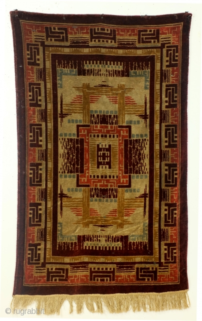 Amsterdam School style Dutch Tapestry.  