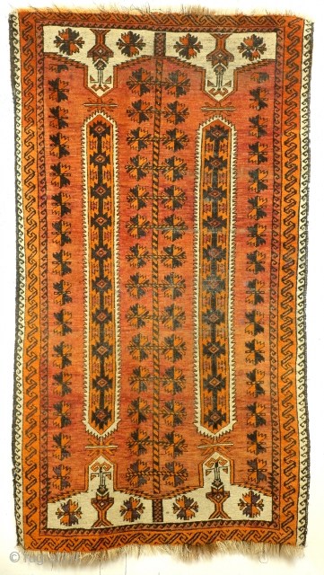 Belouch, wedding rug, antique rug - early light colors. 