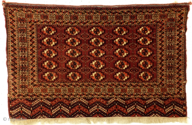 "Antique Tekke, 75 x 116 Cm. 30"" x 46"", natural colors. 