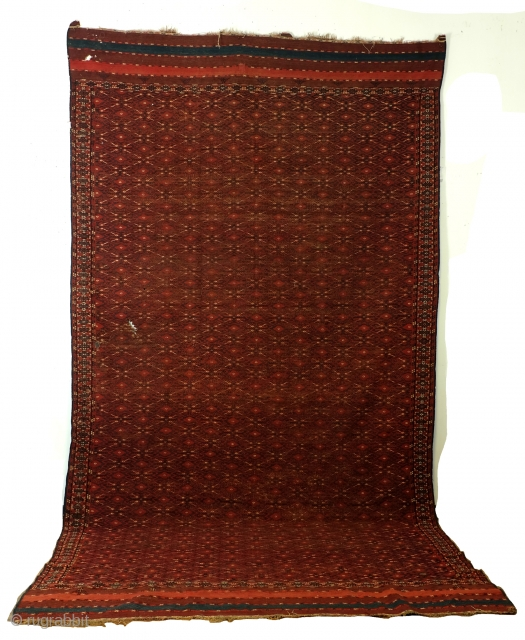 Large Antique Soumack, Ersari Beshir, 420 x 220 Cm. 14 feet x 7.3 feet. 