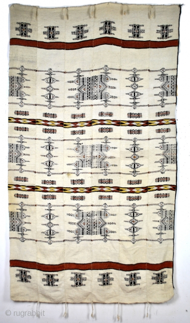 Fulani - Hausa blanket, wool, flatweave, 230 x 130 Cm. 