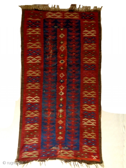 Sarkoy kilim. Balkan, probably Bulgaria.  200 x 100 Cm.  1870 - 1885