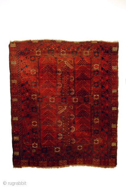 HATCHLOU, Turkmenia.  Turkoman Ersari Tekke Engsi.   200 x 165 Cm.  late 19th century.