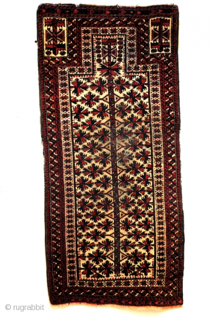 Old Beloudj prayer rug. 