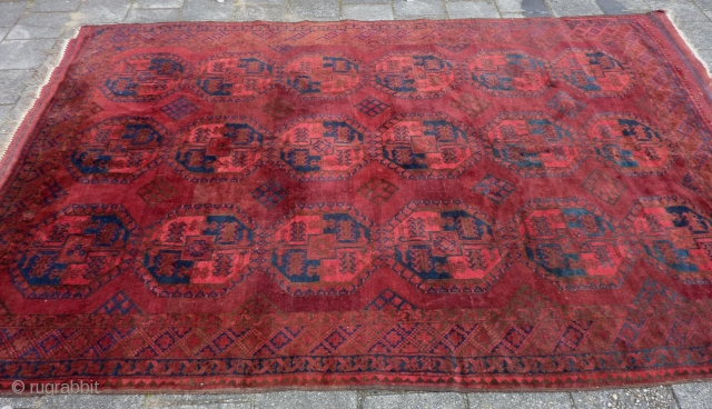 "Ersari afghan main rug,ca. 1930, 320  x 220 cm., 10'6"" x 7'3"". With good pile and in very good condition and with original kilim endings and selvedges. One kilim ending with  ..."