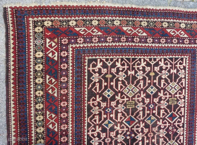 Caucasian Kuba Konagkend, 168  x 118 cm. No repairs, all natural dyes and cleaned, ca. 1900.