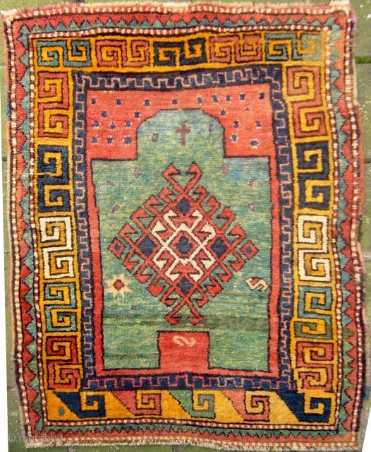 "Zakatala ""christian"" Prayer Rug, 140 X 100 Cm., 4'8"" X 3'4"