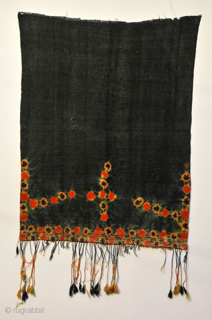 Tunisian Berber tie-dye veil.  Circa 1950-60