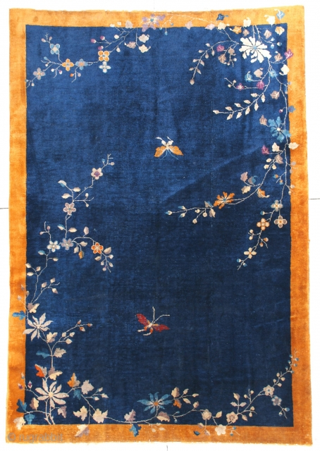 #6667 Antique Art Deco Chinese Oriental Rug 6'0″ X 8'10"