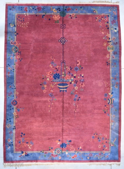 #7731 Antique Mandarin Chinese Art Deco Rug 10'0″ X 13'6″ $6,500.00 Size: 10'0″ X 13'6″ (304 x 414 cm)  Age: Circa 1900  Over sized! https://antiqueorientalrugs.com/product/7731-mandarin-chinese-art-deco-rug/