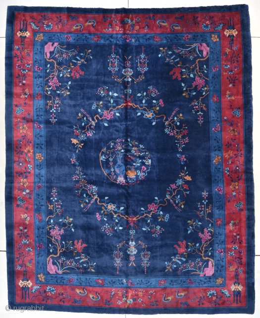 Antique Peking Chinese Rug 9'3″ X 11'4″ #7723