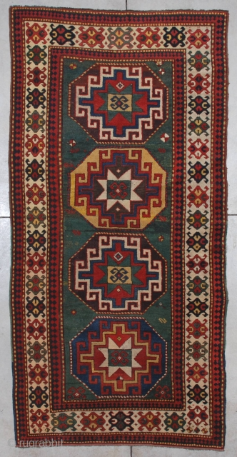 #7198 Kazak Antique Caucasian Rug 