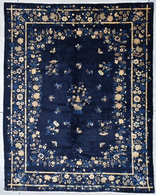 "Antique Peking Chinese Oriental Rug 9'2"" X 11'7"" #7945