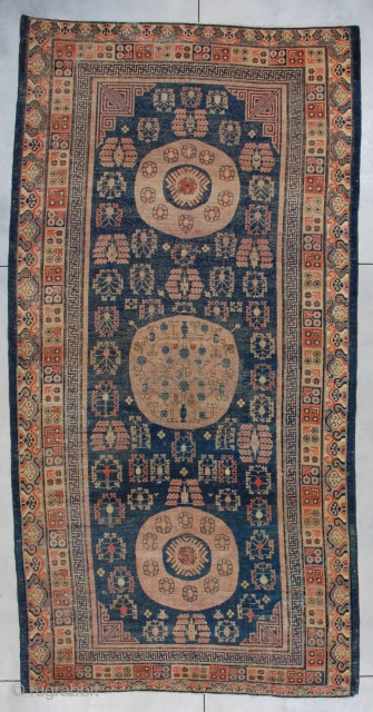 #7285 Antique Khotan Oriental Rug 6'8″ X 13'1″