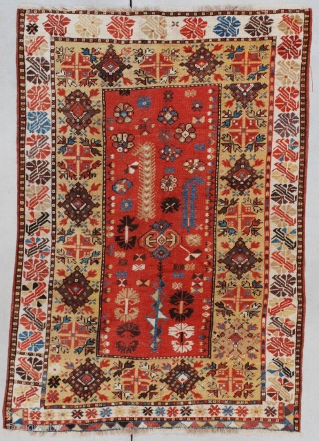 #7352 Antique Melas Turkish Rug