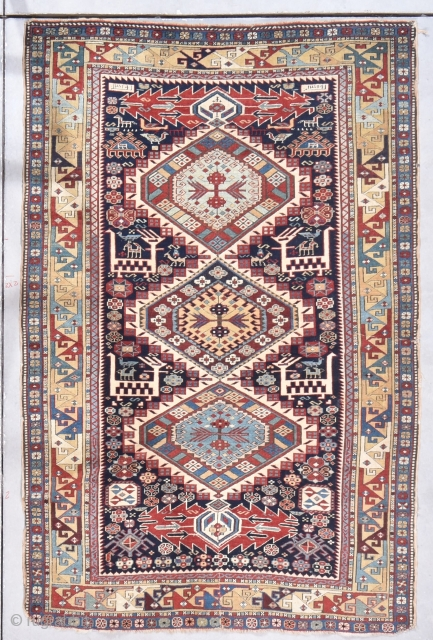"Antique Shirvan Rug 3'10"" X 5'10"" #7861