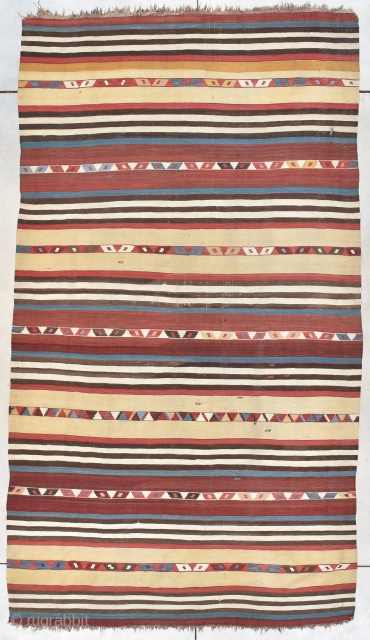 """#7803 Caucasian Kuba Kilim This circa 1825 Caucasian (Kuba) Kilim measures 5'9"""" X 10'6"""" (180 x 323 cm). This is actually the first one of these I have ever owned and I haven't  ..."""
