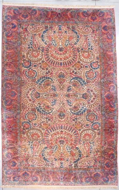 #7540 Laver Kerman Antique Persian Rug 9'6″ X 15″0″