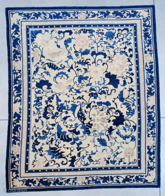#7512 Antique Peking Chinese Rug 7'3″ X 8'9″