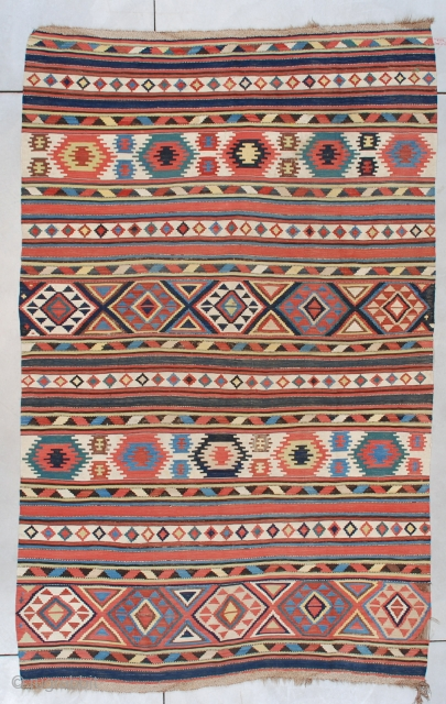 "Shirvan Kilim #7489 Size: 5'11"" x 9'6""  (179 x 292 cm)    Age:  19 Century    Price on request"
