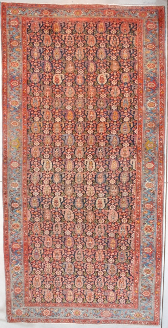#7558 Antique Heriz Persian Rug 