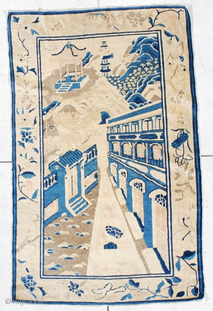 #6544 Antique Peking Chinese Oriental Rug