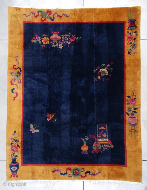 #7429 Art Deco Chinese Rug