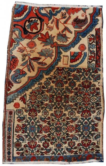 #6899 Persian Bidjar Vagireh Rug Sampler  $2,500.00 Size: 2'3″ X 3'8″ Age: Circa 1900  https://antiqueorientalrugs.com/product/6899-persian-bidjar-vagireh-rug-sampler/