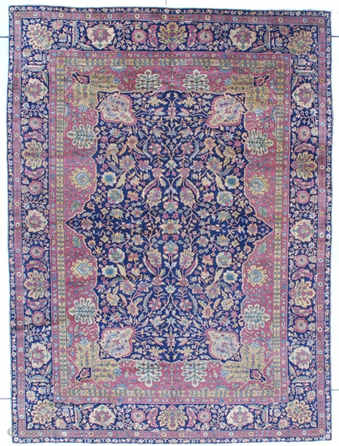 Antique Pahmina wool Amritsar Oriental Rug 7'3″ X 9'9″ #7293