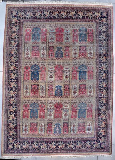 "OVERSIZED!! #7754 Laver Kerman Antique Persian Rug 11'6″ X 15'10"" Age: Circa 1925  https://antiqueorientalrugs.com/product/persian-laver-kerman-antique-rug/"