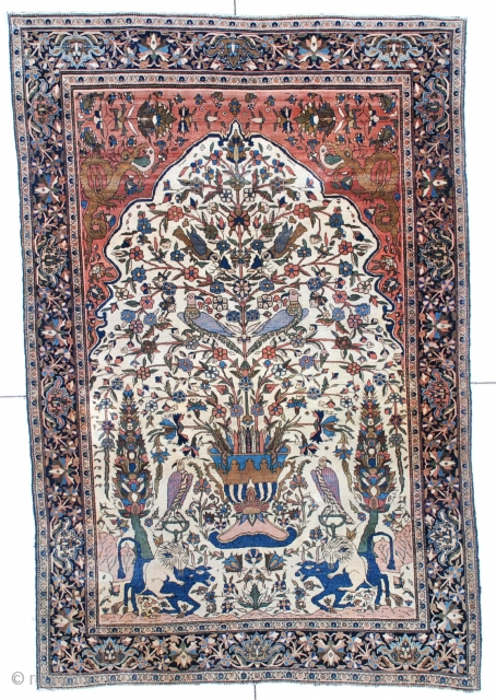 Type: Antique Fereghan Sarouk Rug #5942