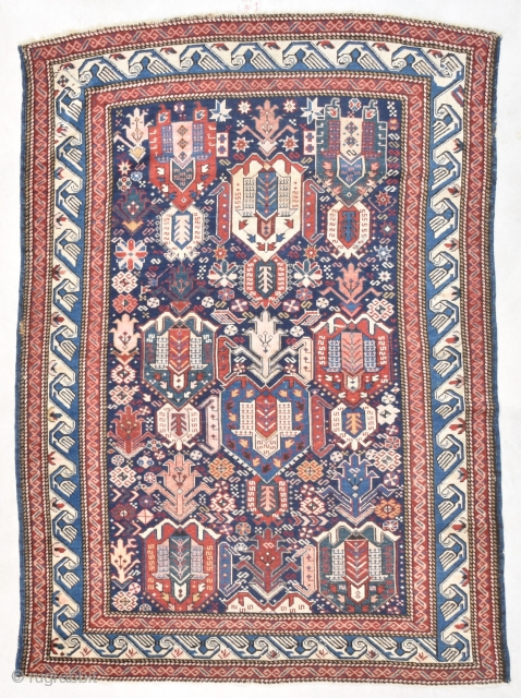 #7735 Antique Kuba Rug