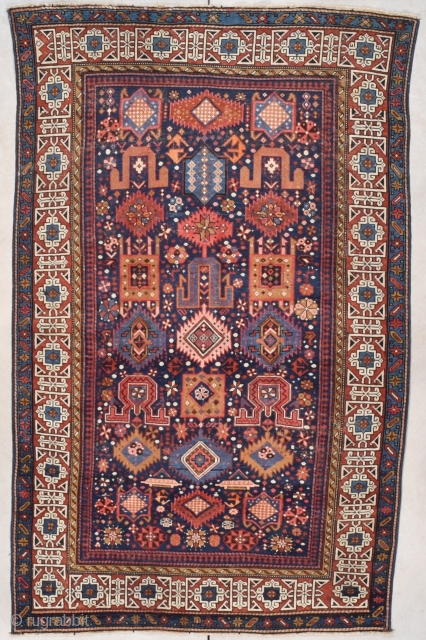 "Antique Shirvan Rug 4'6"" X 7'0"" #7855
