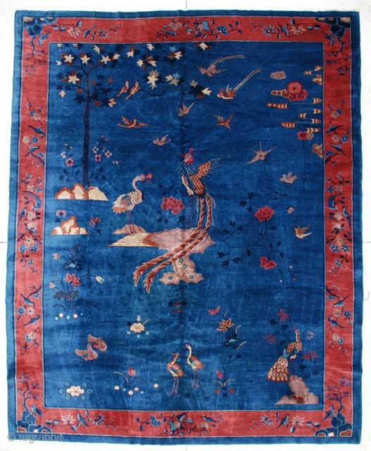 #5983 Antique Peking Chinese Rug