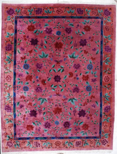 #7131 Art Deco Chinese Carpet