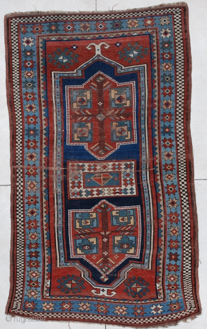 #6640 Kazak Antique Caucasian Rug