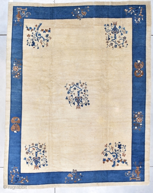 Antique Peking Chinese Oriental Rug #7885