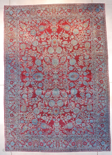 """#7650 Agra This Agra measures 9'10"""" x 14'1"""" (302 x 430 cm). Hey, is this a fantastic rug, or not? Unbelievable color, color, color! This third quarter 19th century Indian carpet is  ..."""