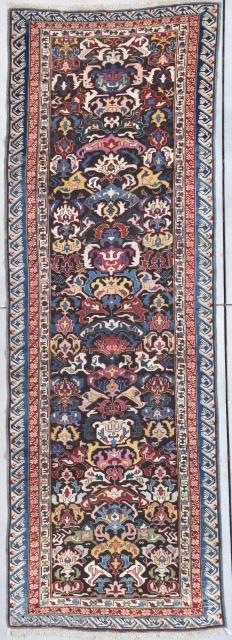 "Antique Kuba Bidjov Runner Oriental Rug 3'8"" X 10'8"" #7909 $8,500.00 Age: circa 1850-1875  Size: 3'8"" X 10'8""https://antiqueorientalrugs.com/product/antique-kuba-bidjov-runner-oriental-rug-38-x-108-7909/"