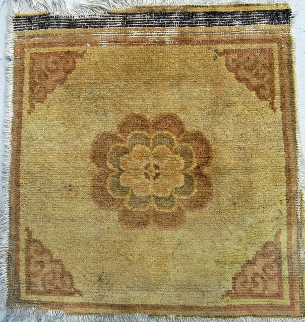 Early Chinese seating mat