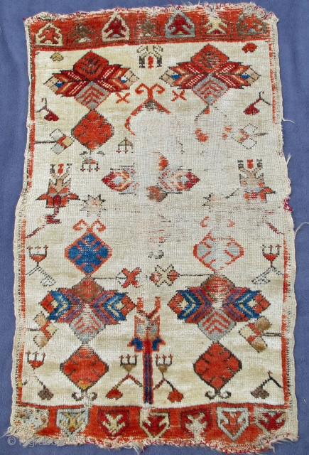 Ancient Yastik showing designs of archaic Turkmen jewelry,