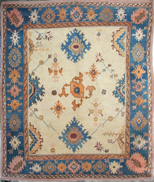 Antique Turkish Ushak Carpet,  Size cm: 260 x 245, Size ft: 8'8 x 8'2, Code No: R4910, Availability:In Stock, Antique Ushak Rug, This rug is over hundred year's old and very good condition.