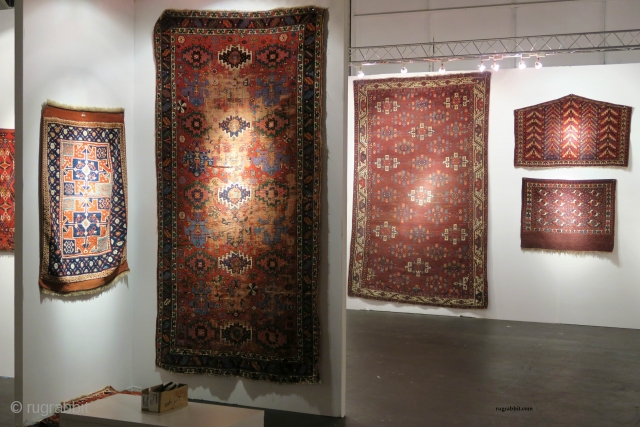 Rug and textile highlights from the San Francisco Tribal and Textile Art Show, 2018 including 'Artful Weavings' a sale exhibition of pieces from private collections by Peter Pap Antique Rugs. 